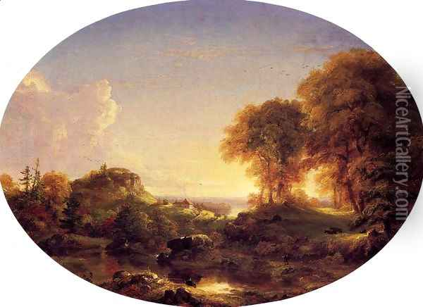 Catskill Landscape Oil Painting - Thomas Cole