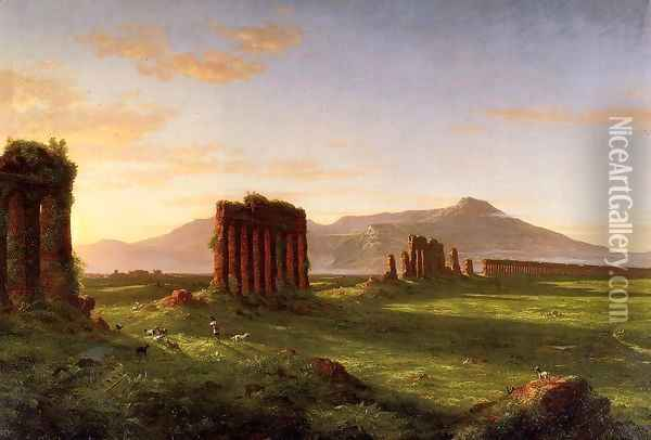 Roman Campagna Oil Painting - Thomas Cole