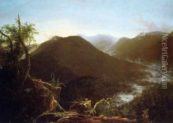 Sunrise in the Catskill Mountains Oil Painting - Thomas Cole