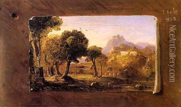 Study for 'Dream of Arcadia' Oil Painting - Thomas Cole