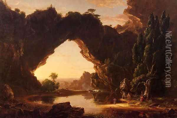 An Evening in Arcadia Oil Painting - Thomas Cole