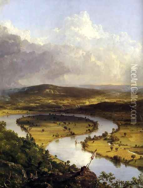 View from Mount Holyoke, Northamptom, Massachusetts, after a Thunderstorm (detail) 1836 Oil Painting - Thomas Cole
