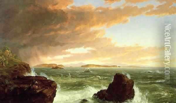 View Across Frenchman's Bay from Mount Desert Island, After a Squall Oil Painting - Thomas Cole