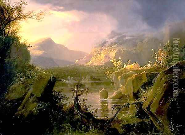 Romantic Landscape Oil Painting - Thomas Cole