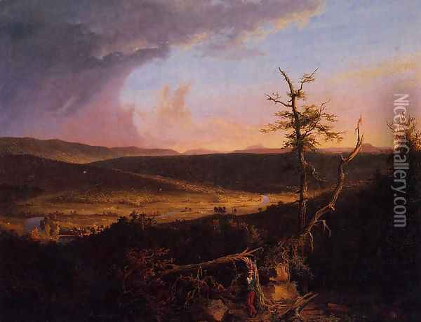 View on the Schoharie Oil Painting - Thomas Cole