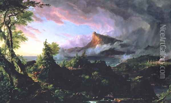The Course of Empire The Savage State 1833-36 Oil Painting - Thomas Cole