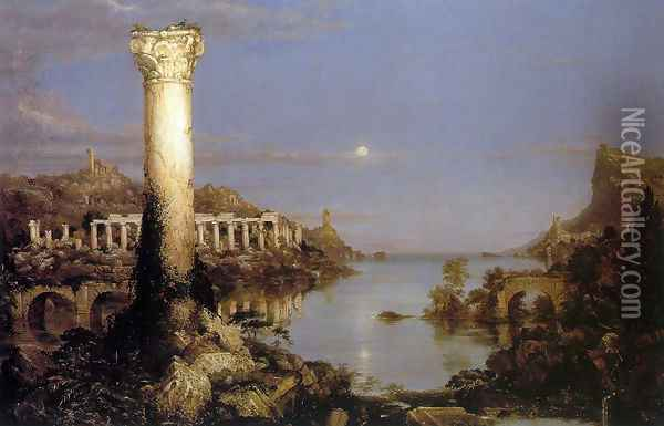 The Course of the Empire: Desolation Oil Painting - Thomas Cole