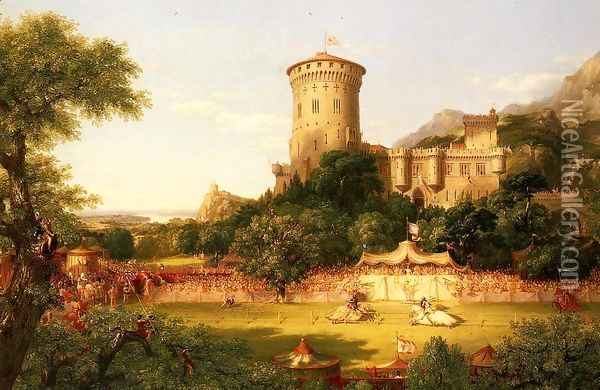 The Past Oil Painting - Thomas Cole