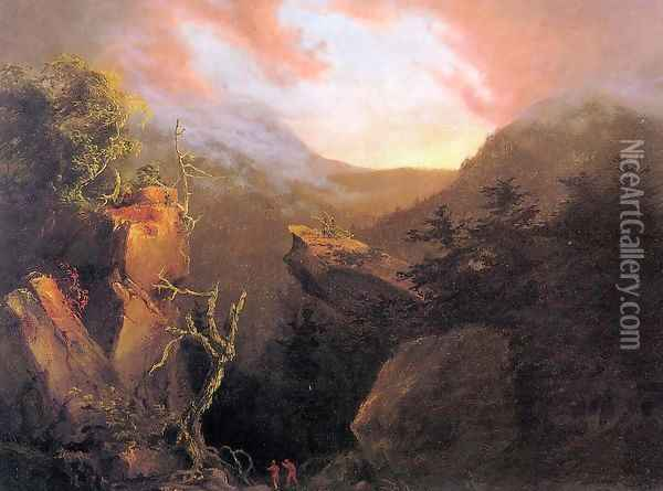 Mountain Sunrise, Catskill Oil Painting - Thomas Cole