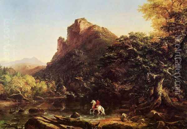The Mountain Ford Oil Painting - Thomas Cole