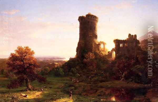 The Present Oil Painting - Thomas Cole