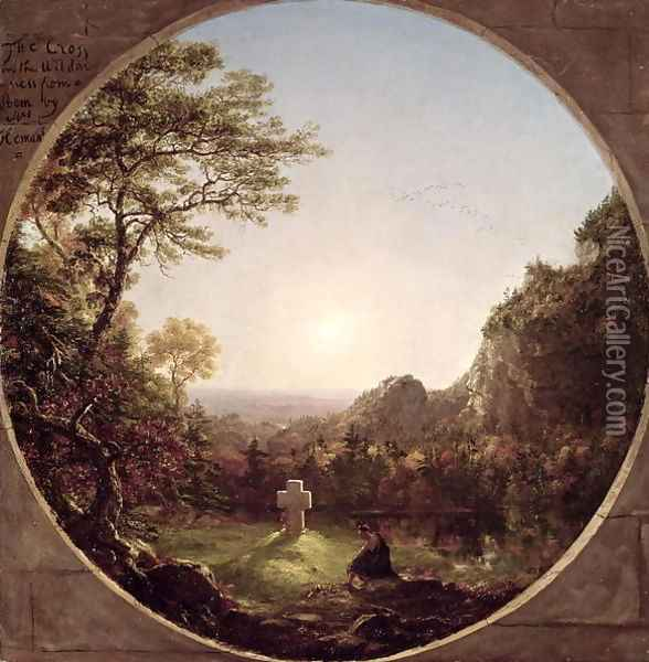 The Solitary Cross, 1845 Oil Painting - Thomas Cole