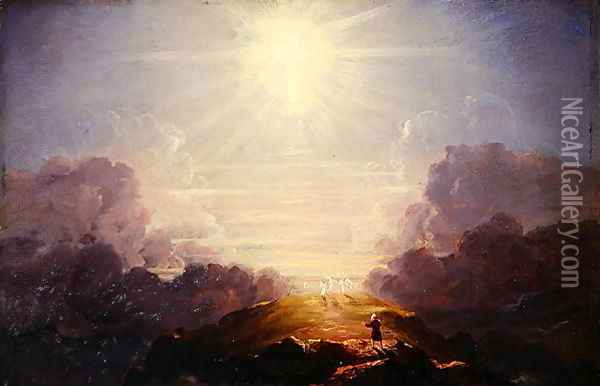 Study for the Cross and the World, c.1846 Oil Painting - Thomas Cole