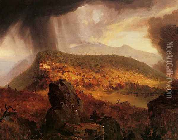 Catskill Mountain House: The Four Elements Oil Painting - Thomas Cole