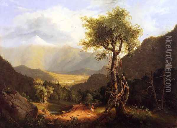 View in the White Mountains I Oil Painting - Thomas Cole
