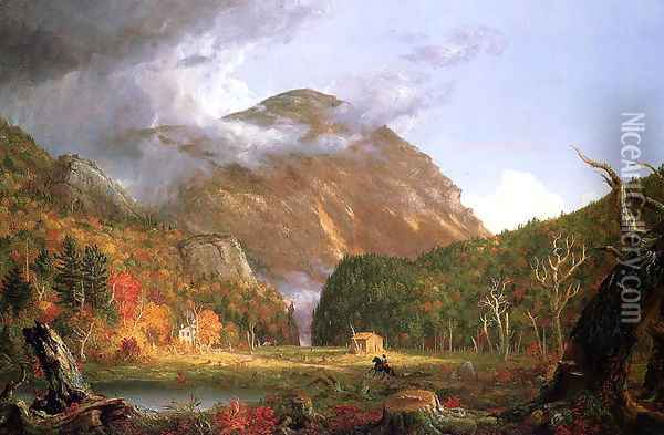 The Notch of the White Mountains (Crawford Notch) Oil Painting - Thomas Cole