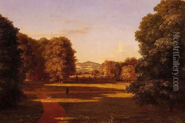 The Gardens of the Van Rensselaer Manor House Oil Painting - Thomas Cole