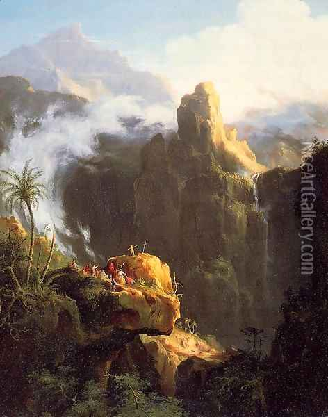 Landscape Composition: Saint John in the Wilderness Oil Painting - Thomas Cole