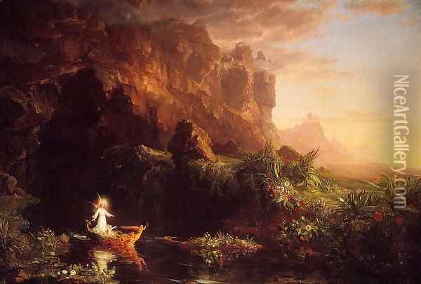 The Voyage of Life: Childhood Oil Painting - Thomas Cole
