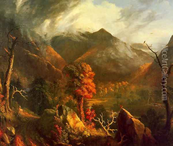 View in the White Mountains Oil Painting - Thomas Cole