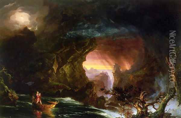 The Voyage of Life: Manhood Oil Painting - Thomas Cole