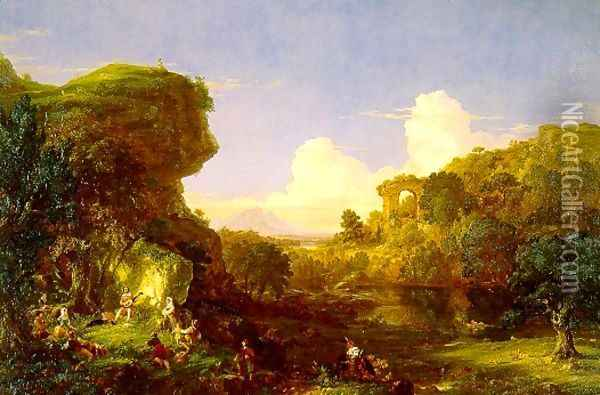 Italian Landscape Oil Painting - Thomas Cole