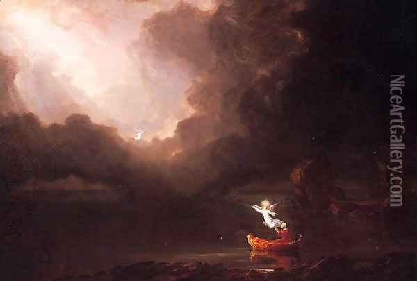 The Voyage of Life: Old Age Oil Painting - Thomas Cole