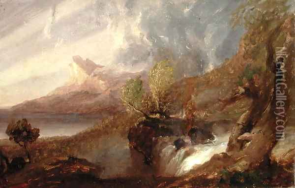 Study for a Wild Scene 1831 Oil Painting - Thomas Cole