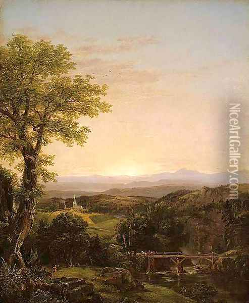 New England Scenery Oil Painting - Thomas Cole