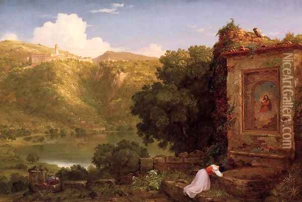 Il Pensaro Oil Painting - Thomas Cole