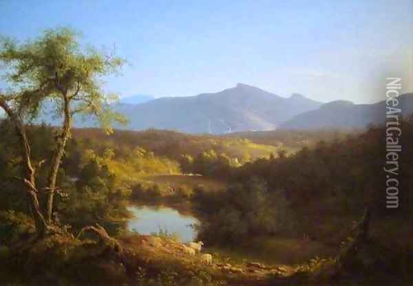 View Near the Village of Catskill Oil Painting - Thomas Cole