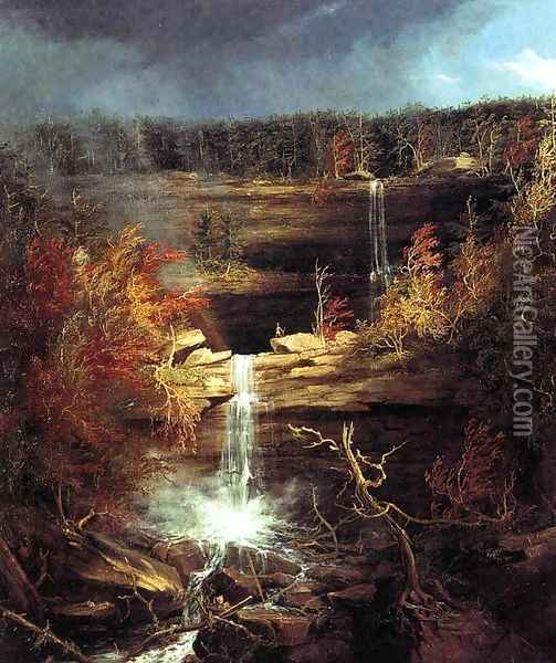 Falls of the Kaaterskill Oil Painting - Thomas Cole