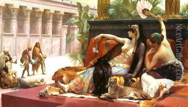 Cleopatra Testing Poisons on Those Condemned to Death Oil Painting - Alexandre Cabanel