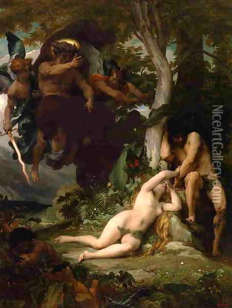 Paradise Lost Oil Painting - Alexandre Cabanel