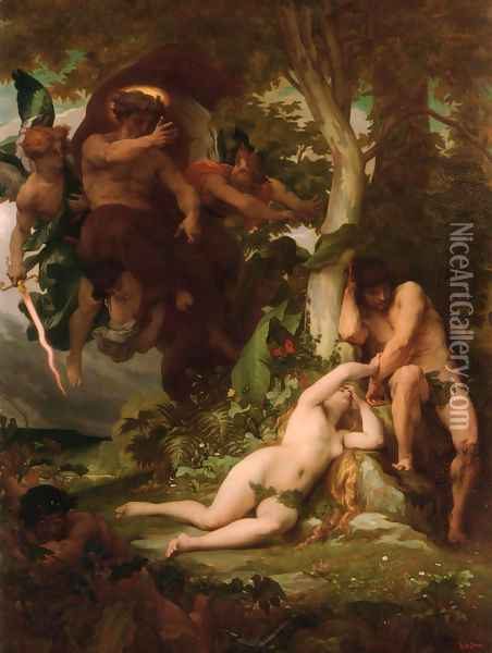 The Expulsion of Adam and Eve from the Garden of Paradise Oil Painting - Alexandre Cabanel