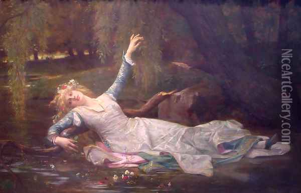 Ophelia Oil Painting - Alexandre Cabanel
