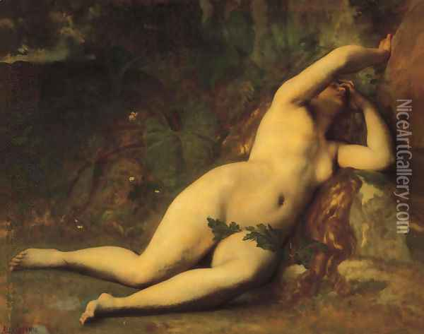 Eve After The Fall Oil Painting - Alexandre Cabanel