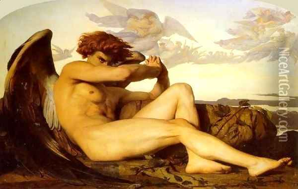 The Fallen Angel Oil Painting - Alexandre Cabanel