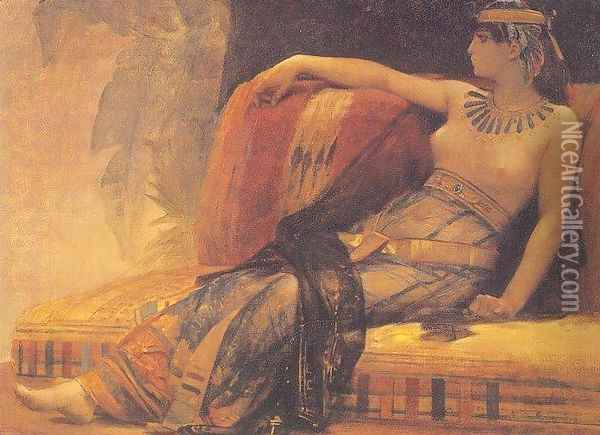 Cleopatra (69-30 BC), preparatory study for 'Cleopatra Testing Poisons on the Condemned Prisoners' Oil Painting - Alexandre Cabanel