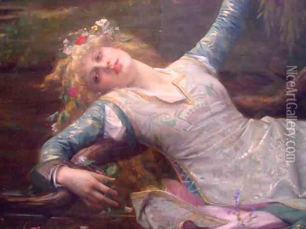 Ophelia [detail] Oil Painting - Alexandre Cabanel