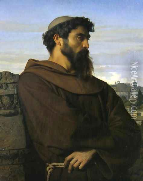 The Roman Monk Oil Painting - Alexandre Cabanel