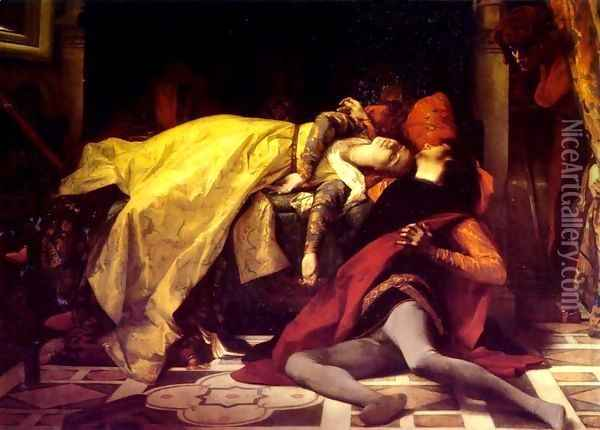 The Death of Francesca da Rimini and Paolo Malatesta 1870 Oil Painting - Alexandre Cabanel