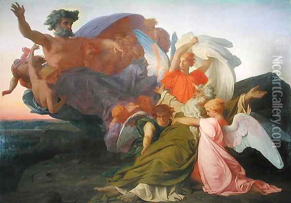 The Death of Moses, 1851 2 Oil Painting - Alexandre Cabanel