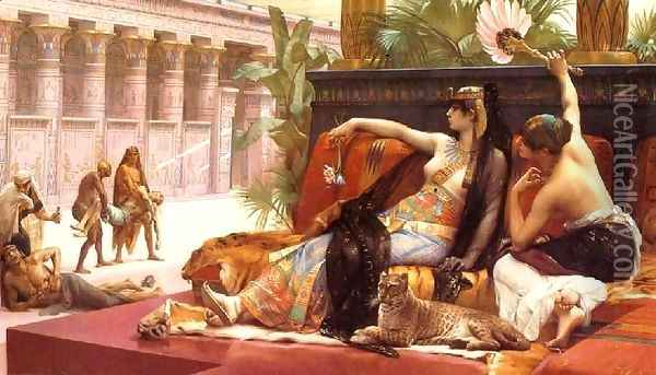 Cleopatra Testing Poisons on Condemned Prisoners Oil Painting - Alexandre Cabanel