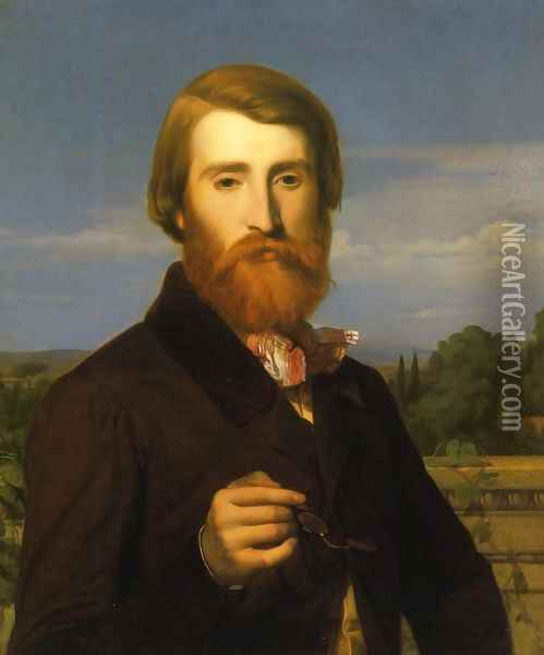 Portrait of Alfred Bruyas Oil Painting - Alexandre Cabanel