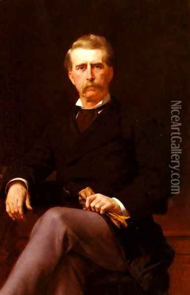 Portrait de John William Mackay (1831-1902) (Portrait of John William Mackay (1831-1902)) Oil Painting - Alexandre Cabanel