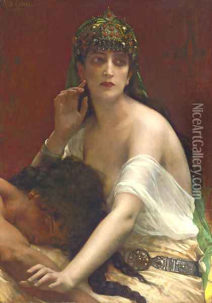 Samson and Delilah Oil Painting - Alexandre Cabanel