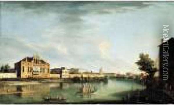 A View Of The River Brenta At 