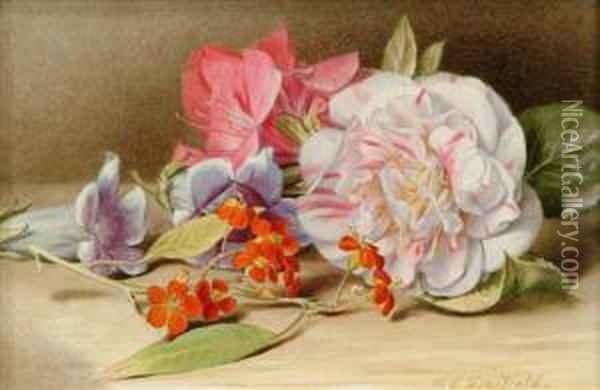 Camelliaeuphobia Oil Painting - Mary Elizabeth Duffield