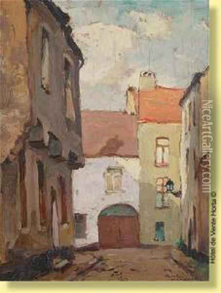 Ruelle A Soignies Oil Painting - Romeo Dumoulin